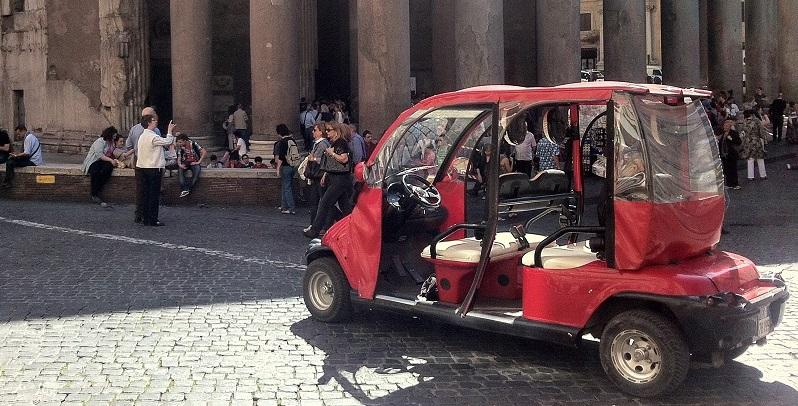 golf cart rome pantheon